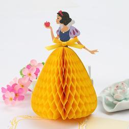 3D Snow White Cinderella Princess Greeting Card Children Bir