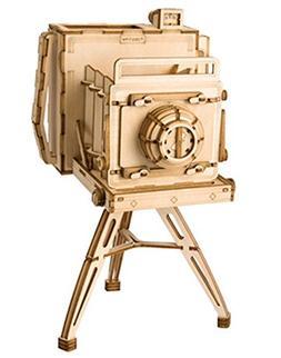 Rolife 3D Wooden Puzzle Wooden Craft Kit Vintage Camera Mode