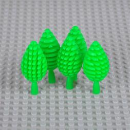 5pcs City Block Building Blocks Mini Trees Plants DIY Bricks