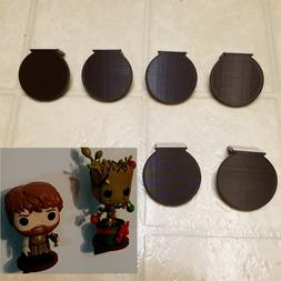 6 Pack Dark Brown Funko Pop Vinyl Figure Mini Wall Display S