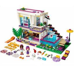 644pcs Livi's Pop Star House Building Blocks Andrea Doll Fig