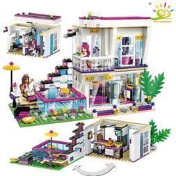 760PCS Pop Star Livi's House Building Block Friend For Girls