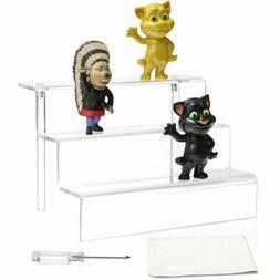 Acrylic Riser Display Stand Shelf Amiibo Funko Pop Figure, 3