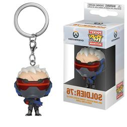 Funko Overwatch Pocket POP Soldier 76 Vinyl Figure Keychain