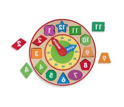 Melissa & Doug Shape Sorting Clock - Wooden Educational Toy