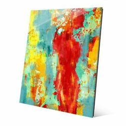 "'Abstract Figure Pop' Glass Wall Art Print Multi 16"" x 20"" x"