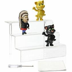 Acrylic Riser Display Stand Shelf Amiibo Funko Pop Figure, 3
