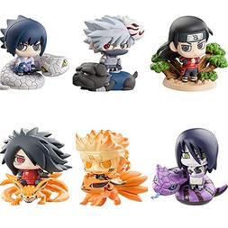 PampasSK Action & Toy Figures - 6pcs/Set Pop Naruto Sasuke U