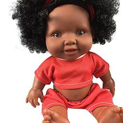 AMOFINY 10 Inch African Baby Doll Intellectual Children Mova