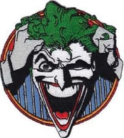 Batman Series The Joker Grabbing Hair and Laughing Embroider