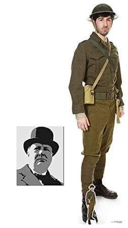 British World War 1 Soldier Lifesize and Mini Cardboard Cuto