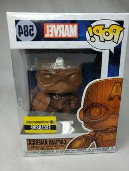 Captain America Wood Deco Pop Figure Bobblehead Entertainmen