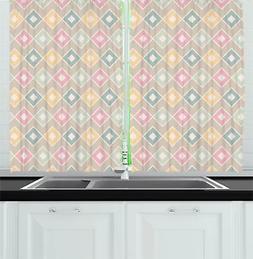 Creative Oriental Kitchen Curtains 2 Panel Set Window Drapes
