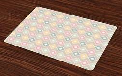 Creative Oriental Placemats Set of 4 Ambesonne Washable Fabr