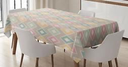 Creative Oriental Tablecloth by Ambesonne 3 Sizes Rectangula