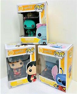 "Funko Disney LILO - STITCH - SCRUMP 3.75"" POP Figure 3PC SET"