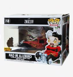 FUNKO DISNEY VILLAINS POP! RIDES CRUELLA IN CAR VINYL FIGURE
