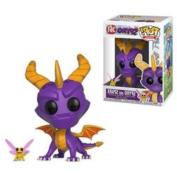 Spyro the Dragon and Sparx Pop! Vinyl Figure and Keychain.