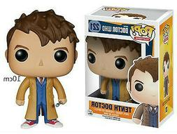 FUNKO POP 10cm Who Figure #221 TENTH DOCTOR Action Figure Mo