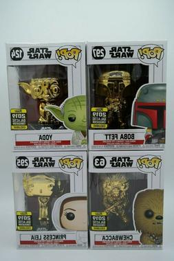 Funko Pop! - Assorted Star Wars Gold Chrome Figures
