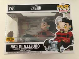 Funko pop Disney Villains Cruella in Car Hot Topic Exclusive