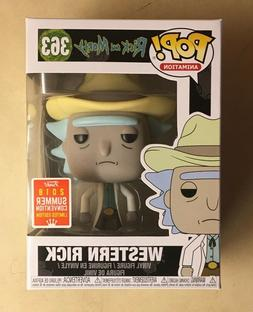Funko POP Rick & Morty Western Rick 2018 SDCC Exclusive Viny