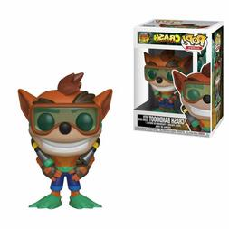 Funko Toys POP GAMES Crash Bandicoot w/ Scuba Gear Figure #4