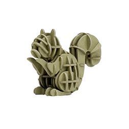 JIGZLE Squirrel 3D Paper Puzzle DIY Kit - Laser Cut Miniatur