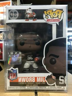 Funko Pop! NFL Legends JIM BROWN  Figure #80 w/ Protector