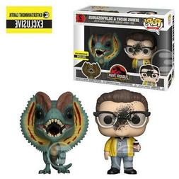Funko Jurassic Park EE Exclusive POP Dennis Dilophosaurus Fi