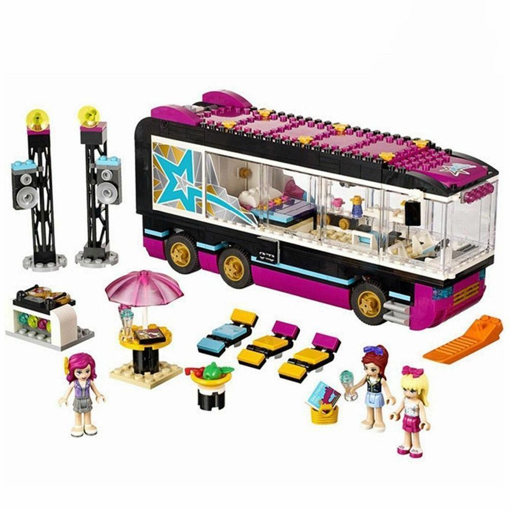 684 pcs friends pop star tour bus