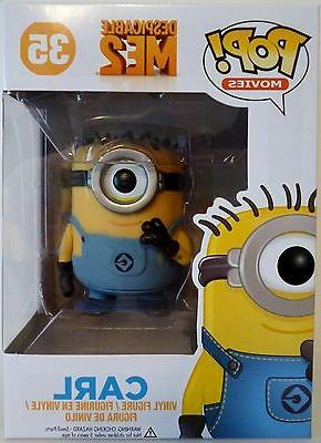 "CARL Despicable Me 2 Pop Movies 4"" inch Vinyl Figure Funko 2"