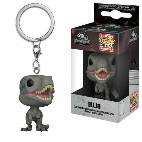 Funko Pop Keychain Jurassic World 2 Blue Velociraptor Action