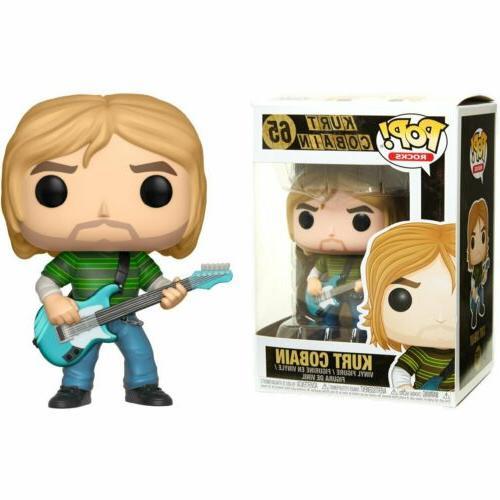 Funko Pop Music Kurt Cobain Striped Shirt Vinyl Action Figur
