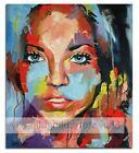 Handpainted  Art Canvas OIL PAINTING Figure Woman Face Portr
