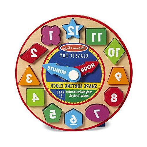 Melissa Shape Sorting Clock Educational Toy