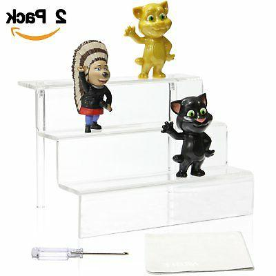 NIUBEE Acrylic Riser Display Shelf for Amiibo Funko POP Figu