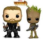 Pop Marvel Infinity War Thor and Groot With Blaster Action F