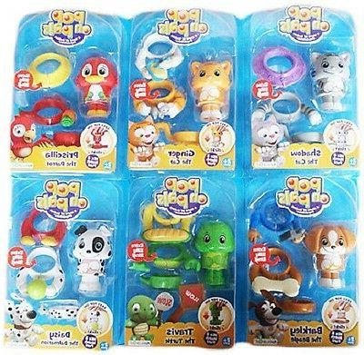 Pop-On Pals complete set of 6 Figure/ Accessories packs