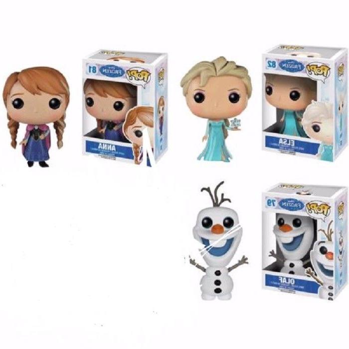 Set of Three Funko Disney Frozen Pop Vinyl Figures #81 Anna,