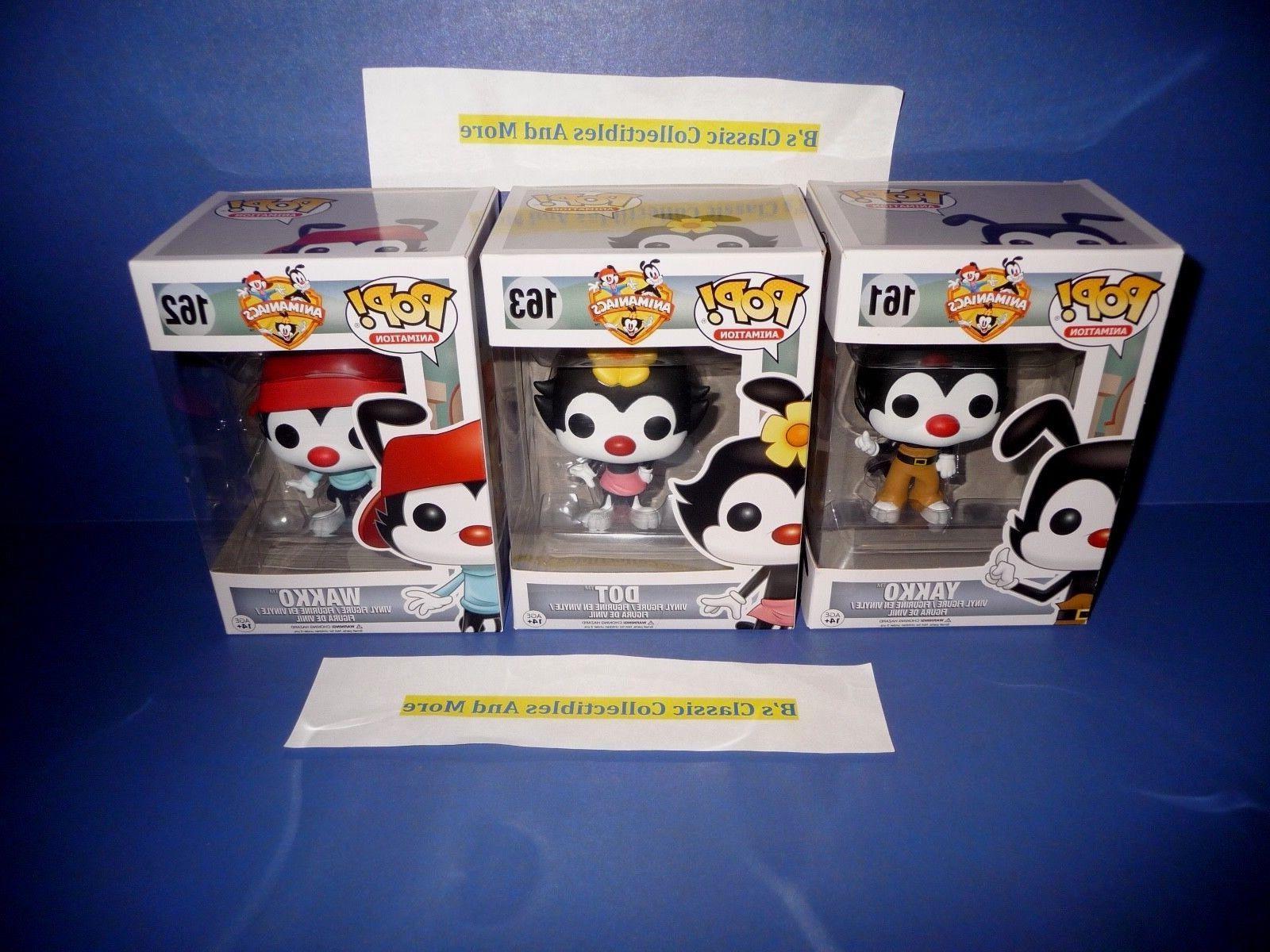 animaniacs pop figures yakko wakko and dot