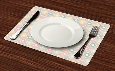 Creative Placemats of 4 Ambesonne Washable Fabric Mats