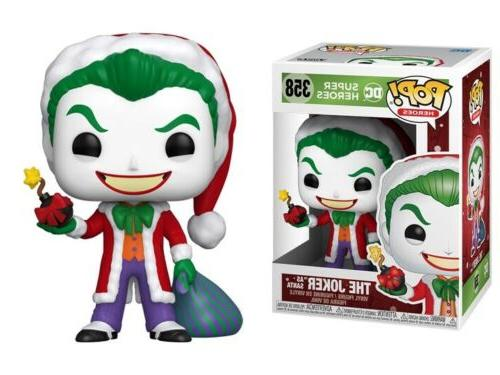 dc holiday santa joker pop vinyl figure