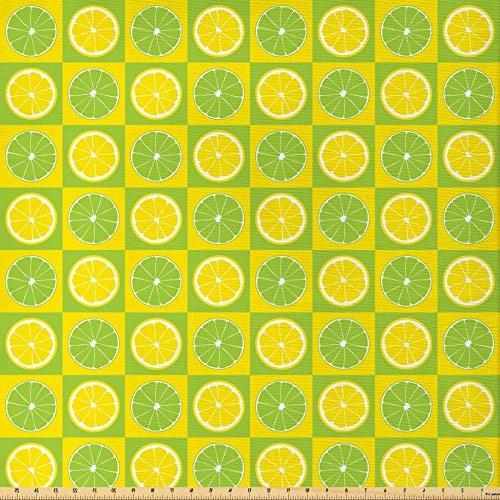 lime green fabric yard figures