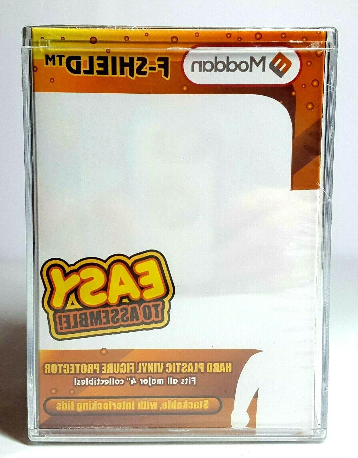 "Moddan Stackable Hard Vinyl Figure Box Fits 4"" Funko Pop NEW"