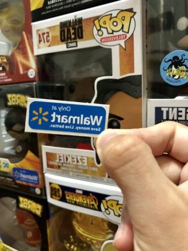 pop figure walmart exclusive replacement sticker