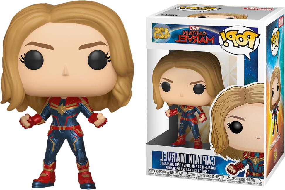 pop marvel captain marvel in stock vinyl