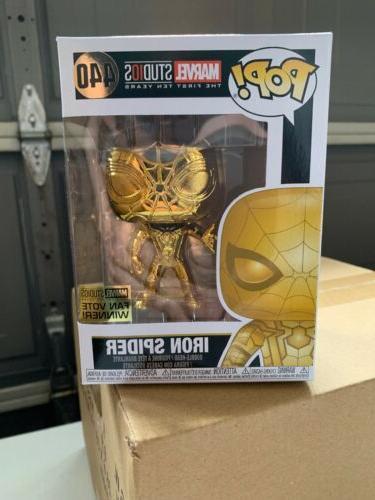 pop marvel iron spider chrome in stock