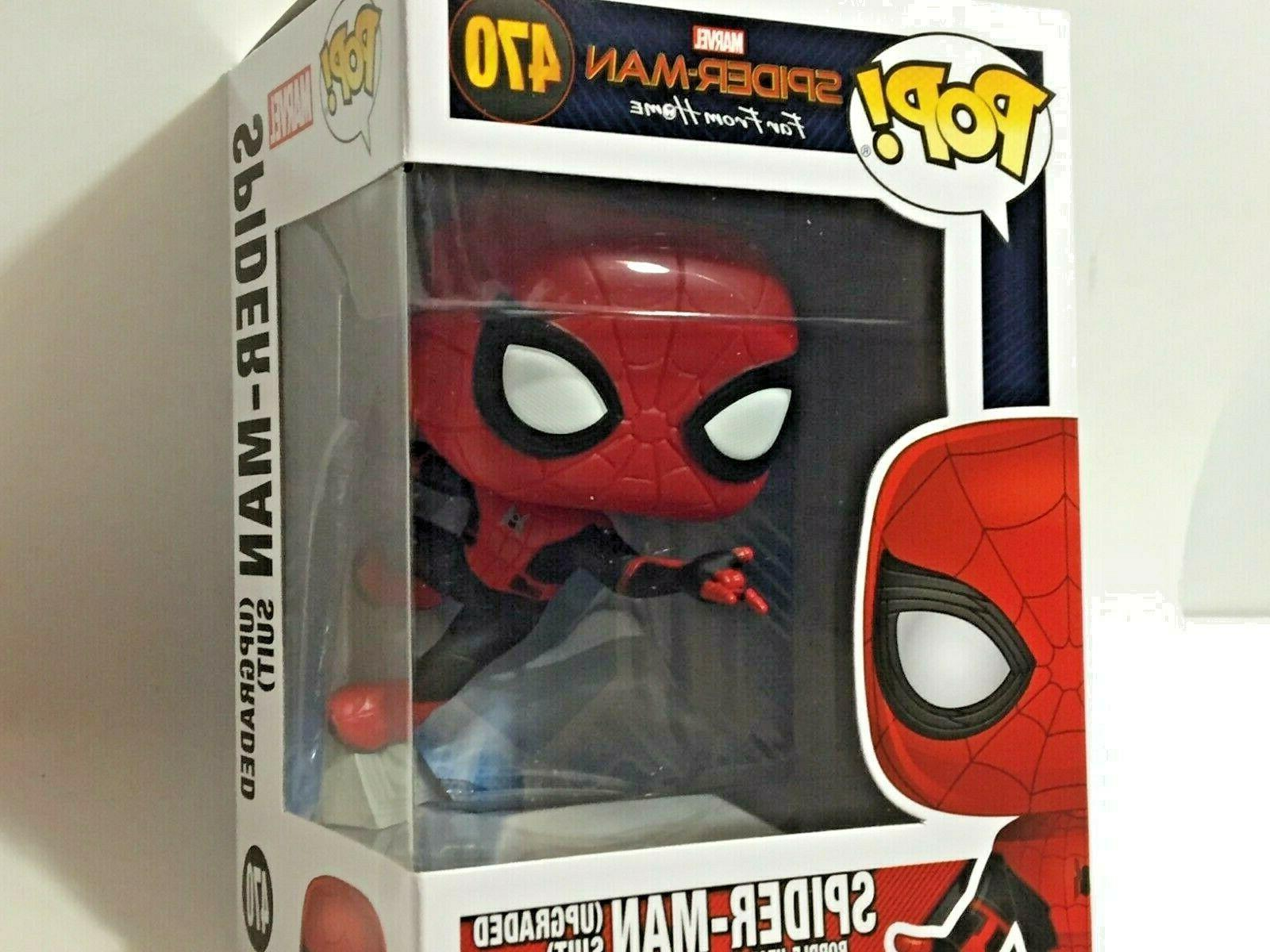 FUNKO Pop Marvel SPIDER-MAN Far From Home UPGRADED SUIT #470 4in Vinyl Figure