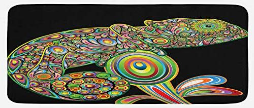 psychedelic kitchen mat